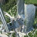 Area CityLife a Milano: raggiunto l'ultimo piano della torre Isozaki