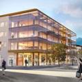 Un edificio bioclimatico in legno e vetro per l'IPES di Bolzano