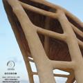Vic (Spagna), visita ad una struttura in canne e bambù
