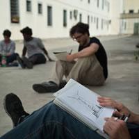Sketch in Basel. Workshop itinerante di disegno dal vero con Stefan Davidovici