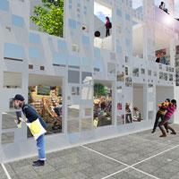 """Una facciata che """"rispecchia"""" le architetture del luogo: l'idea di d2w studio per la piazza di Casalbuono"""