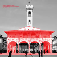 """Convivio: tavoli e sgabelli nel porticato di Palazzo d'Arnolfo. L'idea vincente di Laura Sattin per """"Un'idea, una città"""""""