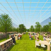 Una biblioteca avvolta tra prati verdi e alberi secolari è l'idea vincitrice del concorso Hyde Park London