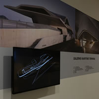 Le opere infrastrutturali dello studio Zaha Hadid Architects in mostra per i passeggeri della stazione di Napoli Afragola