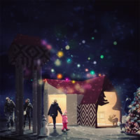 Babbo Natale trova casa ad Aosta con il progetto di Samuel Quagliotto