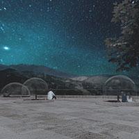 Bolle trasparenti per rimirar le stelle, le Observatory Houses del Castello di Roccascalegna