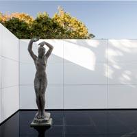 Mies missing materiality. Il padiglione di Mies si tinge di bianco