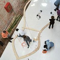 Installazione illuminante in bambù per Venezia - convegno finale