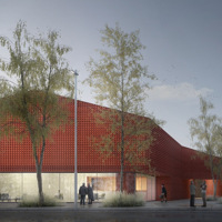 Teatro ad Albignasego: il progetto ispirato alle vecchie cascine è di Mide Architetti con Pool landscape