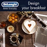 De'Longhi Design Your Breakfast. Nuovi strumenti per cominciare al meglio la giornata