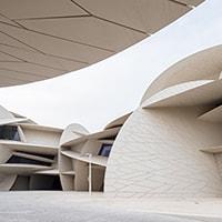 Jean Nouvel firma il National Museum of Qatar, una rosa del deserto nel deserto