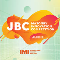 JBC Masonry Innovation Competition 2020. Innovare i sistemi costruttivi in muratura