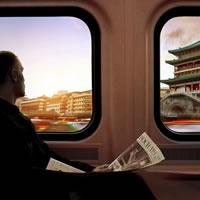 Xi'An Train Station. Nuovo terminale ferroviario nel punto di arrivo della via della seta