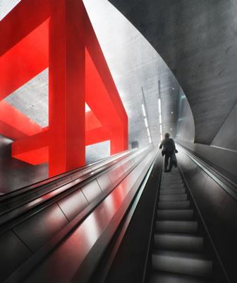 """Spazi """"infiniti"""" e forme pure per le due nuove stazioni della metro a Mosca"""